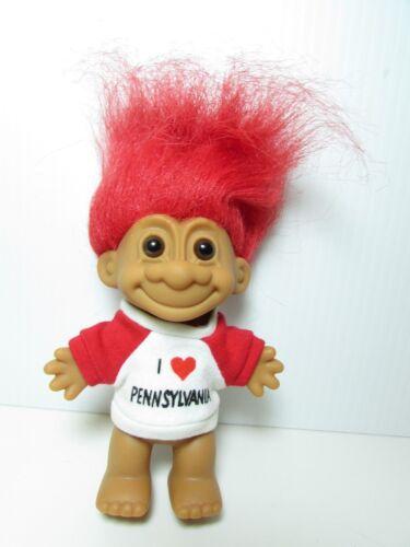 "NEW IN ORIGINAL WRAPPER I LOVE PENNSYLVANIA 5/"" Russ Troll Doll"