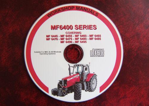 MASSEY FERGUSON MF6400 SERIES TRACTOR WORKSHOP SERVICE REPAIR MANUAL