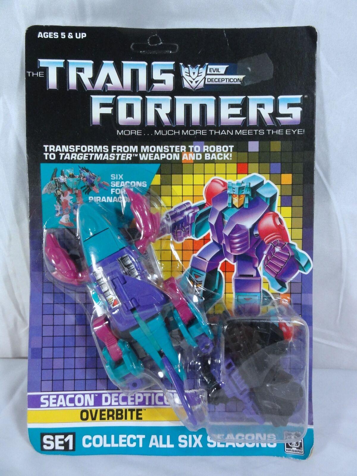 Transformadores 1988 Caja Sellada Piranacon SEACON sobremordida MIB y en caja sellada Sellado