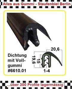 1m MUSTER Kantenschutz  für 5mm Gummidichtung  Gummiprofil 6815 aus BERLIN