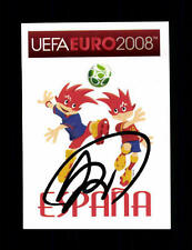 Unbekannt Spanien Panini Sammelbild Euro 2008 Original Signiert+ A 154601