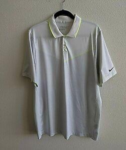 Men-039-s-Nike-Golf-Dri-Fit-Tour-Performance-Short-Sleeve-Golf-Polo-Shirt-Size-L