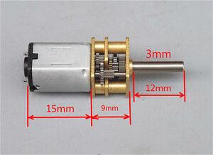 DC 3V 5V 6V 100RPM N20 Mini Full Metal Gearbox Gear Motor Speed Reduction Motor