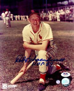 Red Schoendienst autographed signed inscribed 8x10 photo St. Louis Cardinals PSA