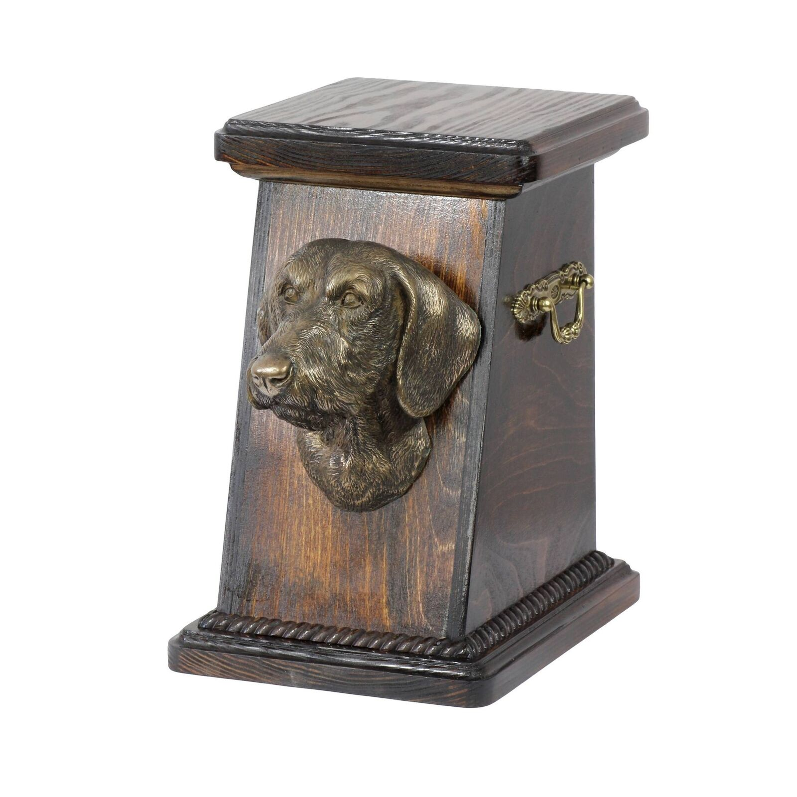 Dachshund type 2  exclusive urn for dog with statue, Art Dog type 2