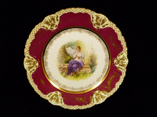SIGNED ROYAL VIENNA HAND PAINTED & GILT CABINET PORTRAIT PLATE – CIRCA 1880