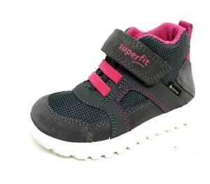 buy online 604c5 8ec72 Details zu Superfit Mädchen Lauflernschuhe grau rosa Größe 21 SPORT7 MINI  Gore Tex