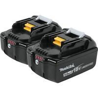 Makita 18v Lxt Battery 5.0ah 2 Pack Bl1850-2 on sale