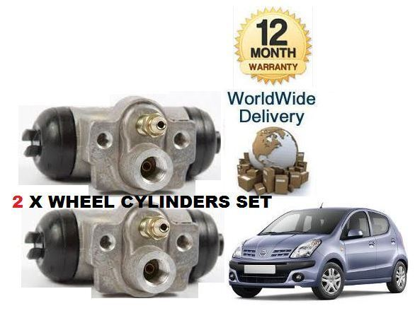 For Nissan Pixo 1.0 2009   NEW 2x REAR LEFT + RIGHT BRAKE CYLINDER KIT