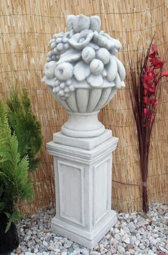 Gartendeko Steinguss,47 cm Säule Sockel für Figuren oder Vasen Figurensockel