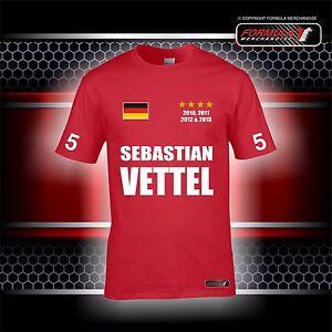 sebastian vettel 4 time world champion t shirt ba190. Black Bedroom Furniture Sets. Home Design Ideas