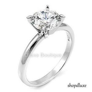 2-05-Ct-Round-Cut-CZ-925-Sterling-Silver-Engagement-Wedding-Ring-Women-039-s-Sz-4-11