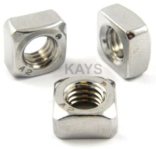 M5 Stainless Steel Square Nuts To Fit Our Stainless Bolts /& Screws x 10