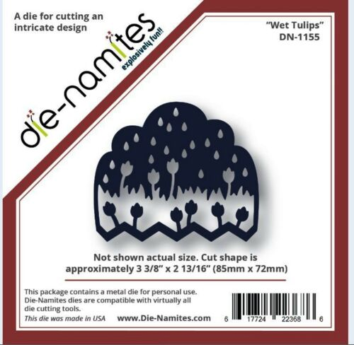 Die-Namites Intricate Design Single Cutting Die WET TULIPS Showers  ~ DN-1155