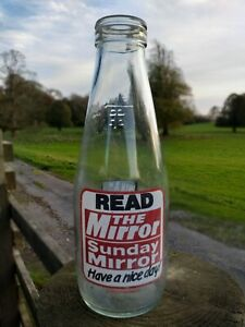 Collectable-Vintage-Coop-Pint-Milk-Bottle-Mirror-Sunday-Mirror-Bingo-c1986