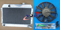 3 Row Datsun 510 521 1.6 L4 1968 1969 1970 1971 1972 73 Aluminum Radiator & Fan