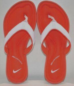 8fe2023f7a57 Image is loading Nike-Women-Solarsoft-Comfort-Thong-Whit-Orange-US-