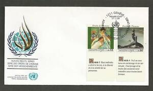 UNITED-NATIONS-GENEVA-1989-Human-Rights-FIRST-DAY-COVER