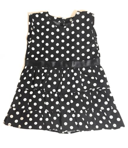 """Black with White Polka Dots Dress made for 18/"""" American Girl Doll Clothes"""