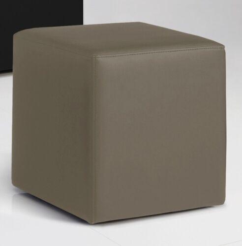 Kunstleder Muddy 40x40x45 cm Sitzwürfel Sitzhocker Hocker KUBUS