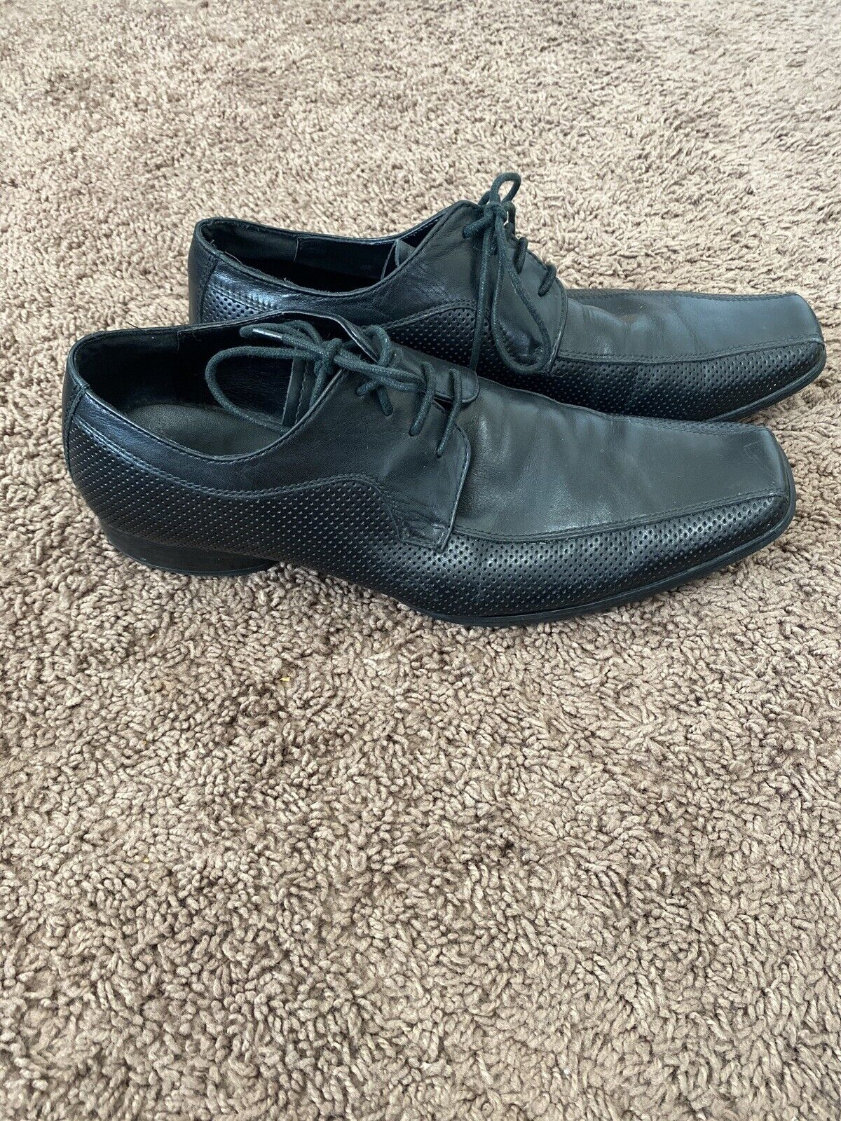 Kenneth Cole Reaction Black Oxford Shoes Dress Leather Career Move 10