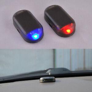 Car Solar Energy Dummy Security Anti-theft Warning Flash Alarm LED Light New