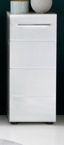 Bad Unterschrank Badschrank Kommode in Hochglanz weiß grau Beton Badezimmer Nano