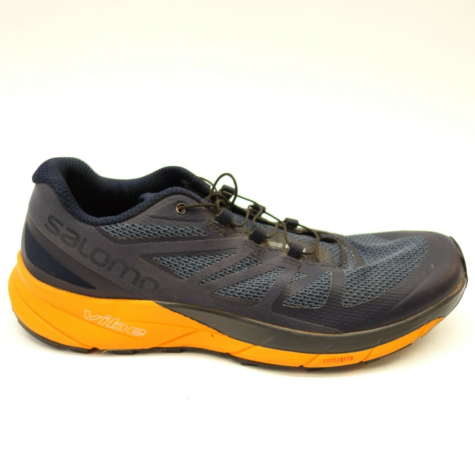 Salomon Mens Sense Ride bluee Athletic Hiking Mountain Running shoes Size 8.5