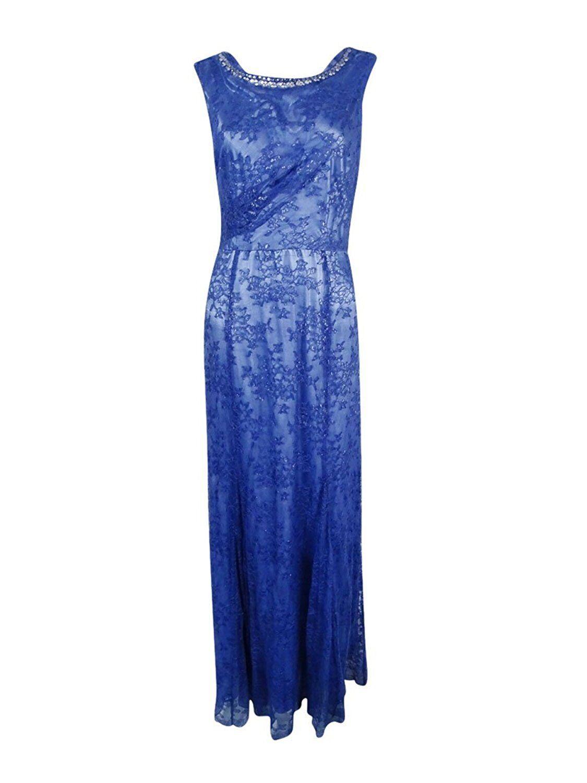 2383 Elie Tahari damen Blau Floral Lace Overlay Embellished Gown Dress 8  229