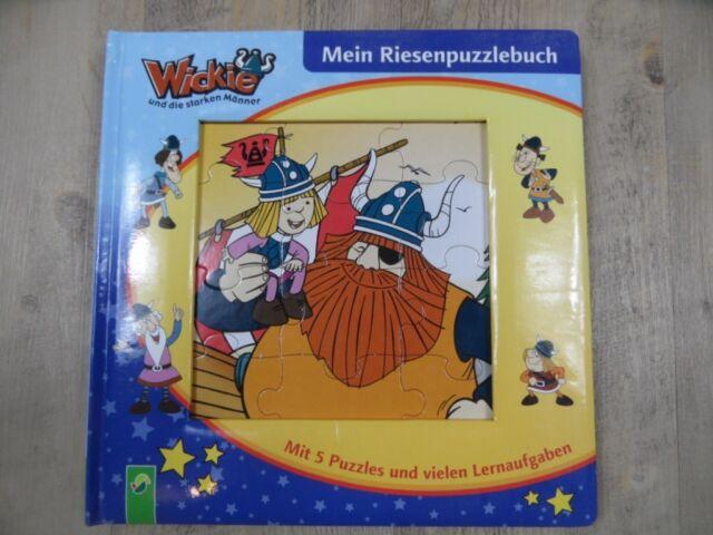 WICKIE Mein Riesenpuzzlebuch 5 Puzzles + Lernaufgaben ab 3 Jahren TOP KSo1217