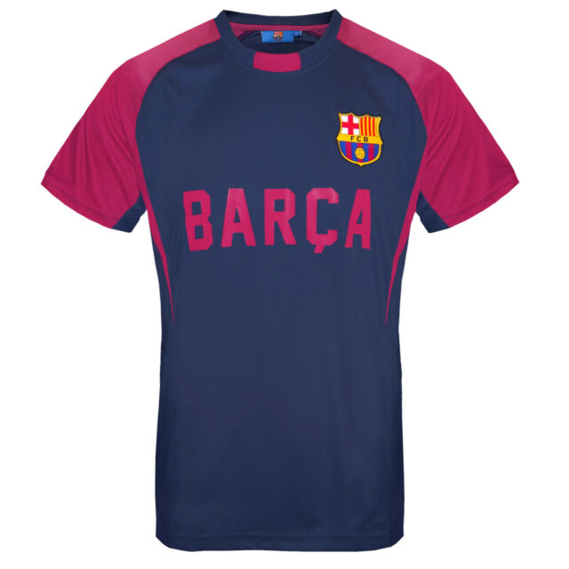 0ccf2716 FC Barcelona Official Football Gift Mens Poly Training Kit T-shirt ...