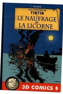 PASTICHE-Carte-postale-TINTIN-Le-naufrage-de-la-Licorne-Hors-Commerce-2016