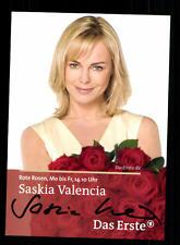 Saskia Valencia Rote Rosen  Autogrammkarte Original Signiert # BC 83361