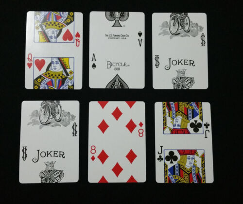 New Gaff Trick Deck MISMADE Red Bicycle Playing Cards RARE