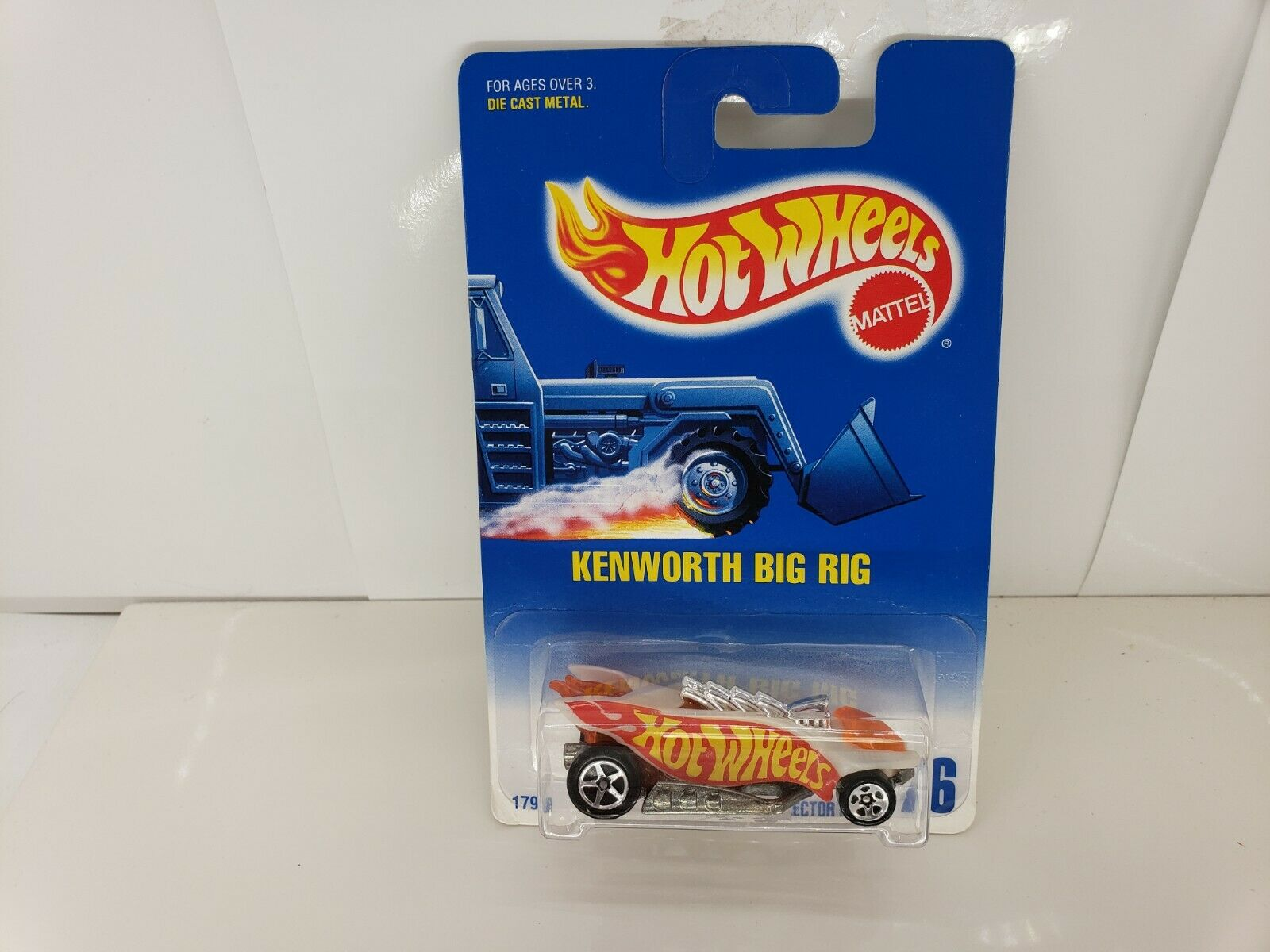 HOTWHEELS 1992  76 KENWORTH BIG RIG ERROR CAR TURBOFLAME-SIZZLER,KIDSTOYZ®