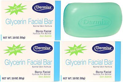 3 UNITS OF SUPER CLEANING GLYCERIN FACIAL SOAP BAR - JABON 3 OZ DERMISA BRAND