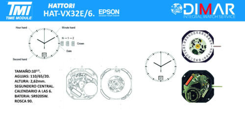 VX32E//6. EPSON TMI CALIBRE MOVIMIENTO HATTORI