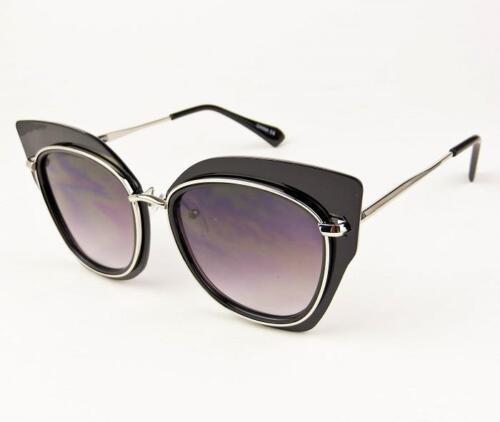 Oversized Cat Eye Aviator Metal Arms Large Big Stormy Fashion Sunglasses 7024 IT