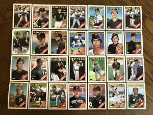1988-PITTSBURGH-PIRATES-Topps-COMPLETE-Baseball-Team-Set-28-Cards-BONDS-BONILLA