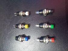 Confezione da 6 - 7 x 25 mm Interruttore Momentaneo Pulsante Push-push per rendere
