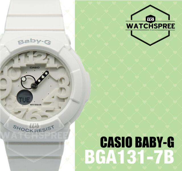 Casio Baby-G Sports Ladies White Watch BGA131-7B