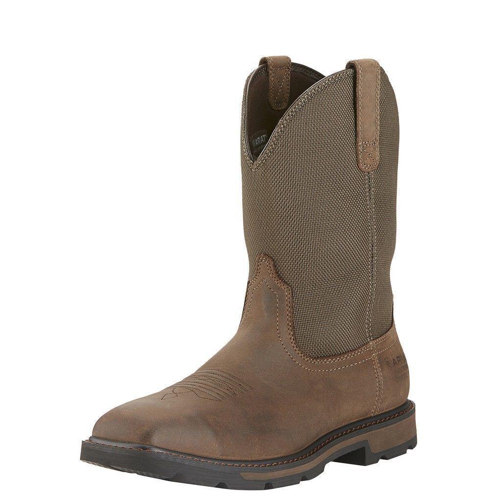 Homme ARIAT GROUNBREAKER H20 Steel Toe Western Work bottes  10015196  Nouveau