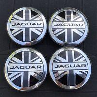Jaguar (set Of 4) 59mm Uk Flag Wheel Center Caps C2d9611 Wc4pc586