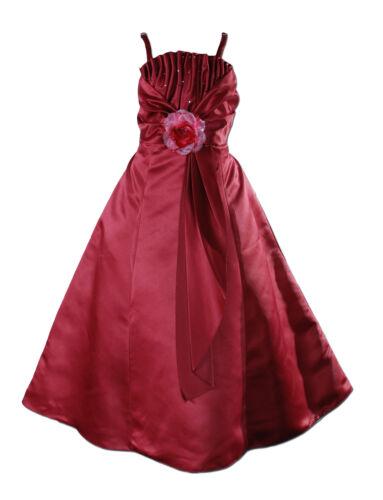 Demoiselle D/'Honneur Fleur Filles Pageant robe bolero en 6 couleurs de 2 To 12 ans