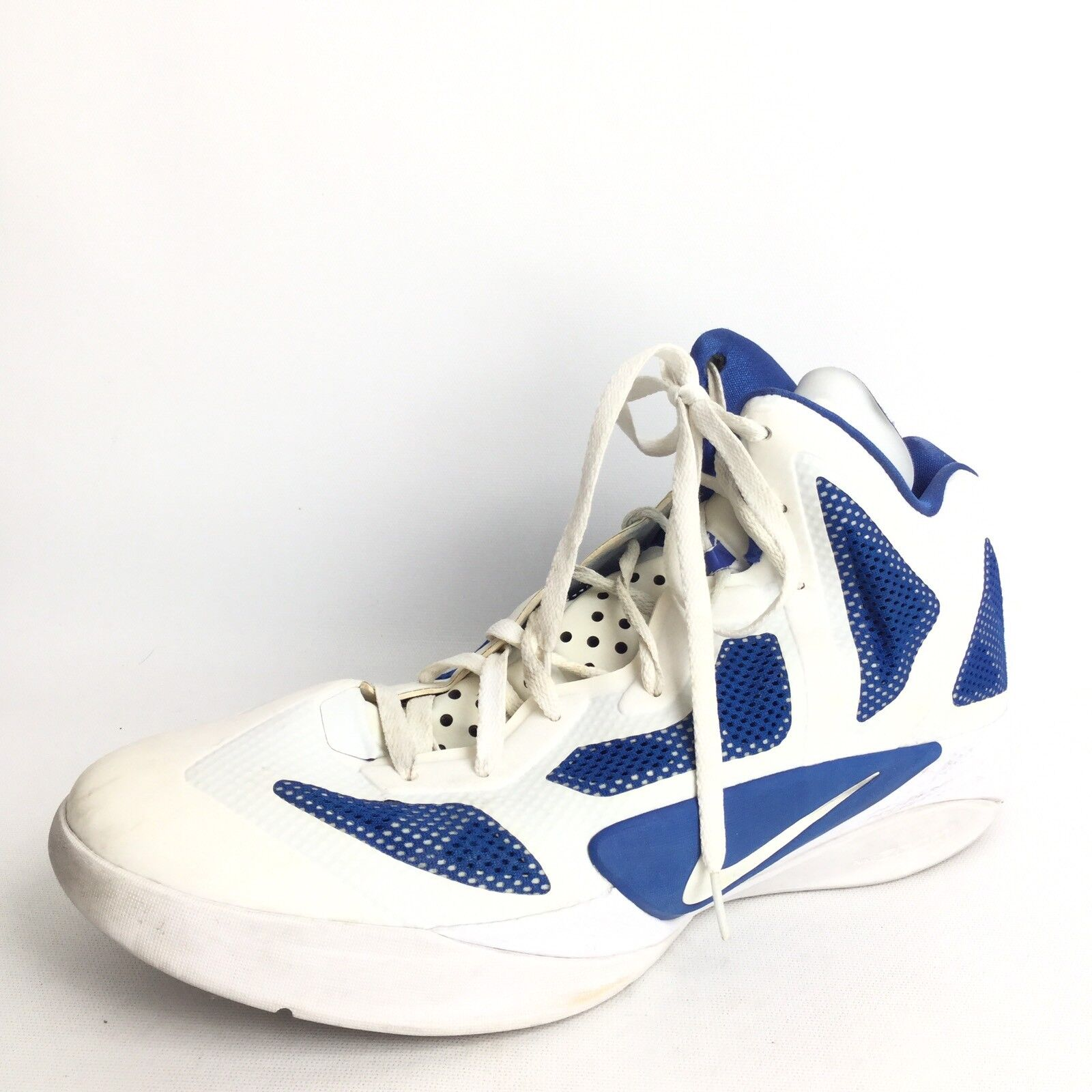 Nike Zoom Hyperfuse Mens Size 15 M White bluee Basketball Sneakers.