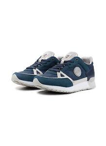 Sneakers-Donna-Colmar-Travis-Supreme-Colors-Nylon-Pelle-Scarpe-Blu-Argento-Nuove