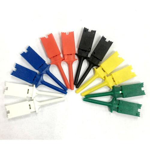 12ps Mini-Testhaken Clips Testclip Abflachungstest Flachhaken mit geringem