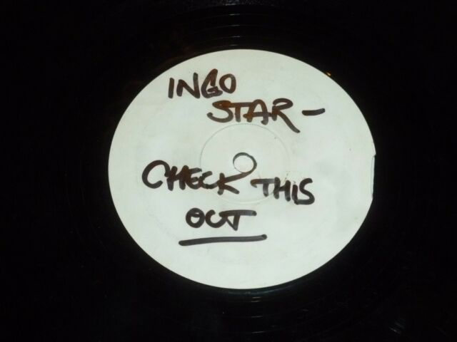 "INGO STAR - Check this out - UK 2-track 12"" Vinyl Single WHITE LABEL"