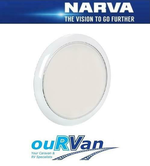 NARVA CARAVAN INTERIOR LED LIGHT 87504 180MM ROUND CEILING SURFACE MOUNT 9-33V