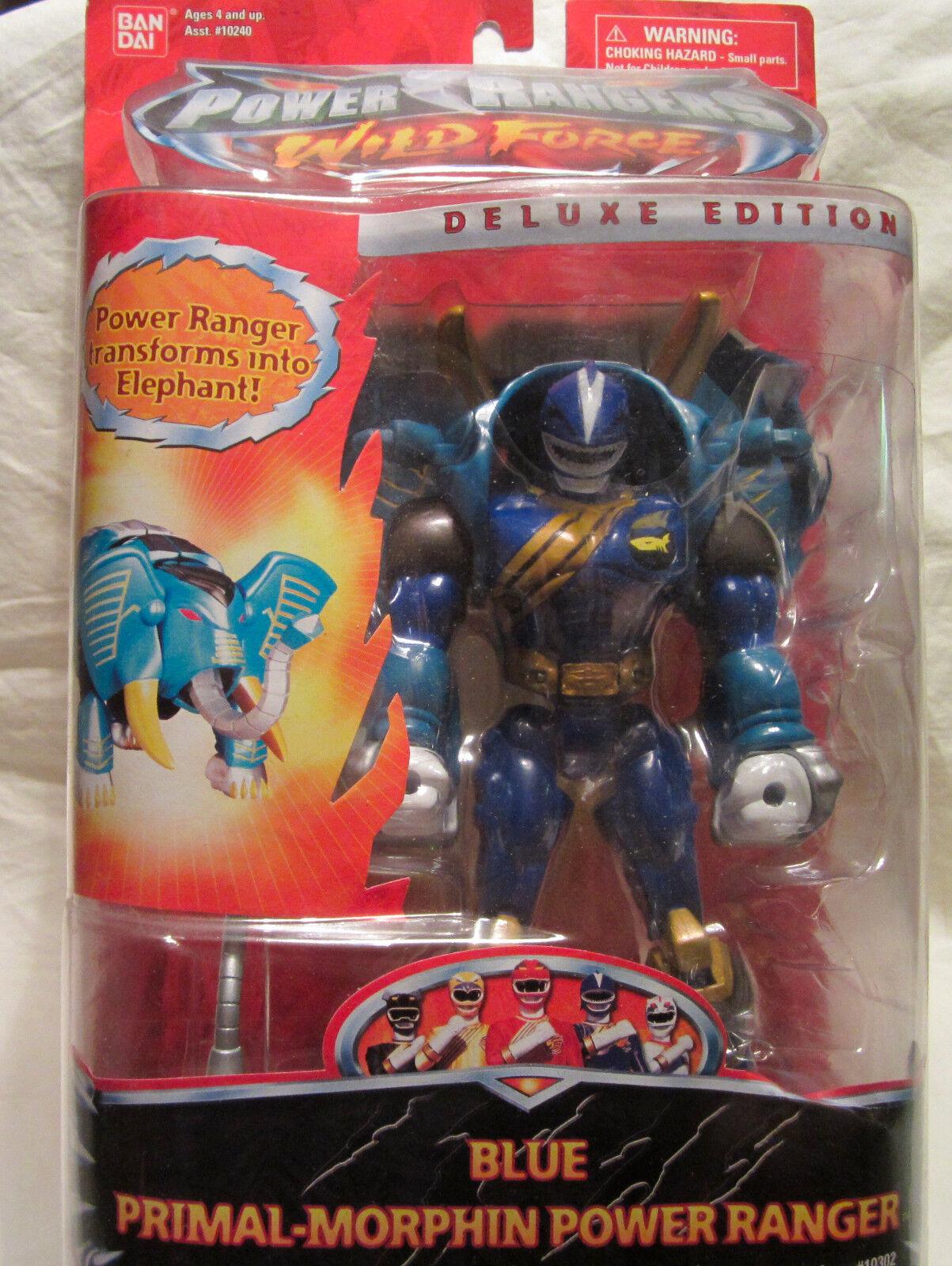 Power Rangers Wild Force Luxus Primal-Morphin Verwandelt Blau Elefant Ranger